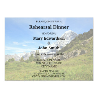 Switzerland alps mountain wedding Rehearsal Dinner Card