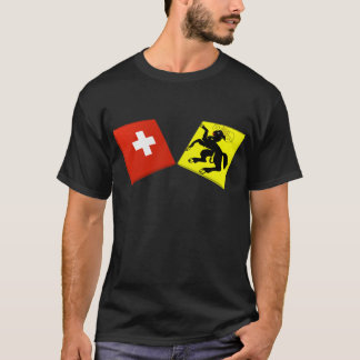Switzerland and Schaffhausen Flags T-Shirt