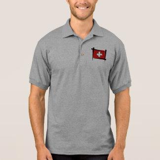 Switzerland Brush Flag Polo Shirt