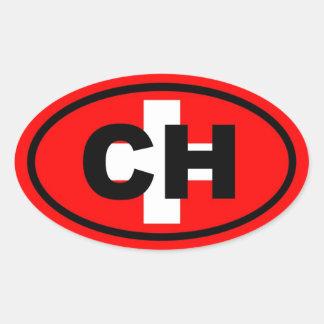 Switzerland CH European Oval Sticker