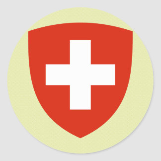 Switzerland Coat of Arms detail Classic Round Sticker