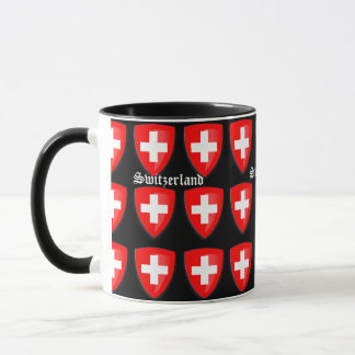Switzerland coat of arms Swiss Souvenir Text Mug