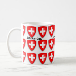 Switzerland coat of arms Swiss Text Souvenir Coffee Mug