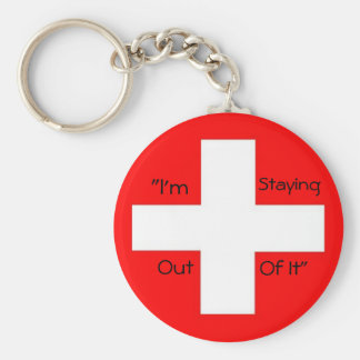 Switzerland - Customized Basic Round Button Key Ring