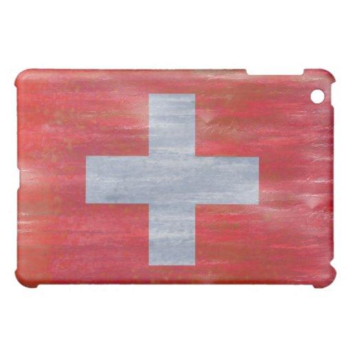 Switzerland distressed Swiss flag iPad Mini Covers