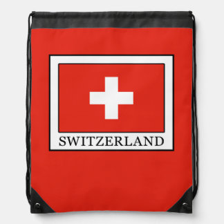 Switzerland Drawstring Bag