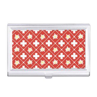 Switzerland Edelweiss pattern Business Card Holder