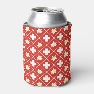 Switzerland Edelweiss pattern Can Cooler
