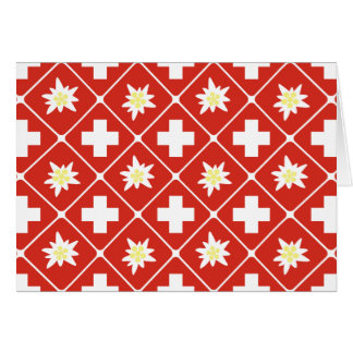 Switzerland Edelweiss pattern Card
