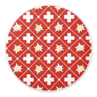 Switzerland Edelweiss pattern Ceramic Knob