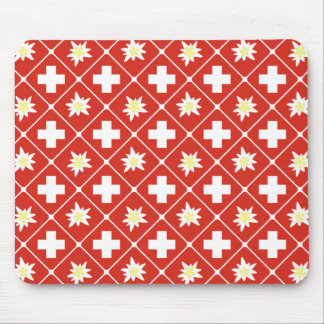 Switzerland Edelweiss pattern Mouse Pad