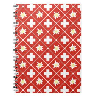 Switzerland Edelweiss pattern Notebook