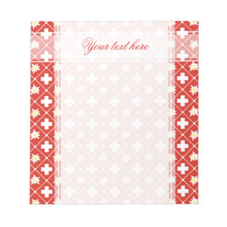 Switzerland Edelweiss pattern Notepad