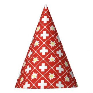 Switzerland Edelweiss pattern Party Hat