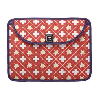 Switzerland Edelweiss pattern Sleeve For MacBook Pro