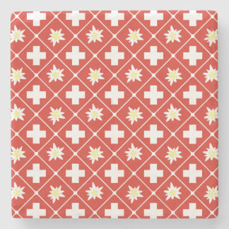 Switzerland Edelweiss pattern Stone Coaster