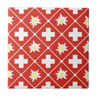 Switzerland Edelweiss pattern Tile