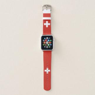 Switzerland Flag Apple Watch Band