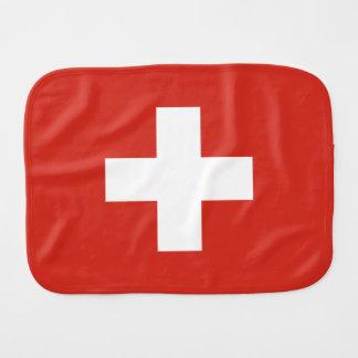 Switzerland Flag Burp Cloth