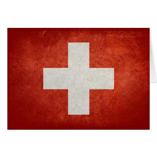 Switzerland Flag Card