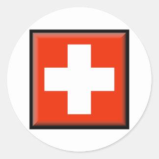 Switzerland Flag Classic Round Sticker