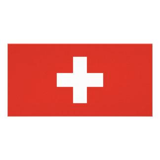 Switzerland Flag Customised Photo Card