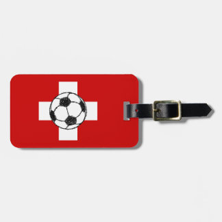 Switzerland Flag | Football Ball Luggage Tag