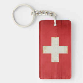 Switzerland Flag Key Chain Souvenir