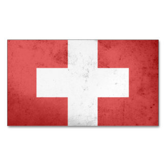 Switzerland Flag Magnetic Business Cards