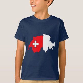 Switzerland flag map T-Shirt