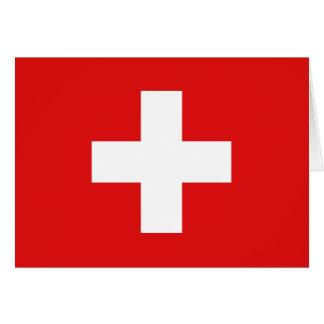 Switzerland Flag Notecard Note Card