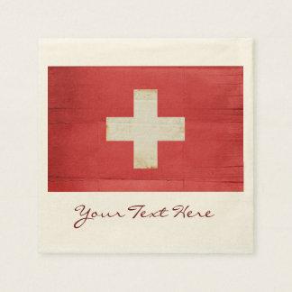 Switzerland Flag Party Napkins Paper Napkins