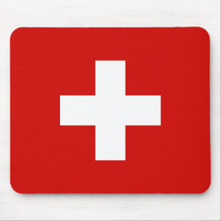 Switzerland flag quality mouse pad