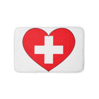 Switzerland Flag Simple Bath Mats