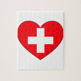 Switzerland Flag Simple Jigsaw Puzzle