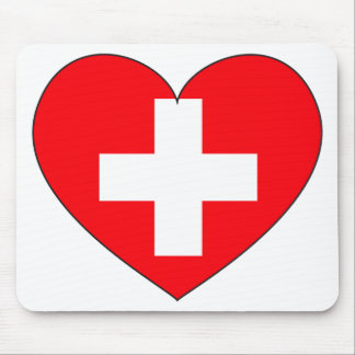Switzerland Flag Simple Mouse Pad