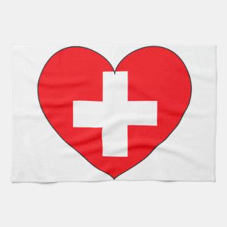 Switzerland Flag Simple Tea Towel