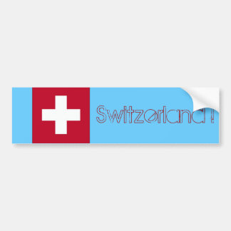 Switzerland Flag - Swiss Bumper Sticker