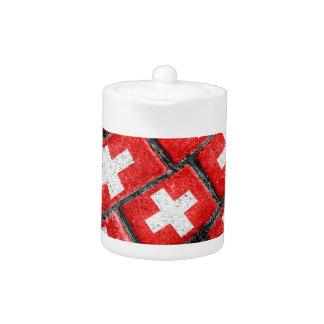 Switzerland Flag Urban Grunge Pattern