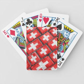 Switzerland Flag Urban Grunge Pattern Bicycle Playing Cards