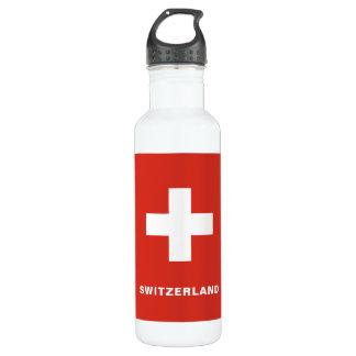 Switzerland Flag Water Bottle