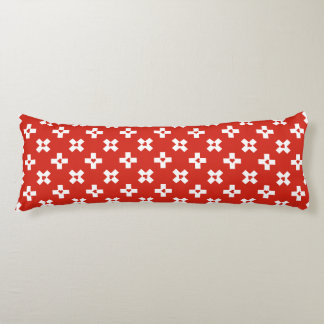 Switzerland Flag with  Heart pattern Body Cushion