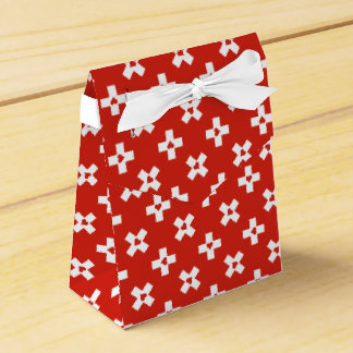 Switzerland Flag with  Heart pattern Favour Box
