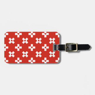 Switzerland Flag with  Heart pattern Luggage Tag