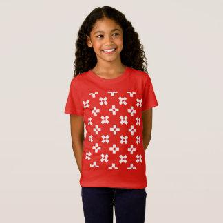 Switzerland Flag with  Heart pattern T-Shirt