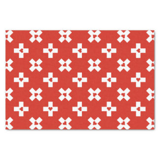 Switzerland Flag with  Heart pattern Tissue Paper