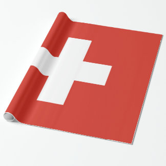 Switzerland Flag Wrapping Paper