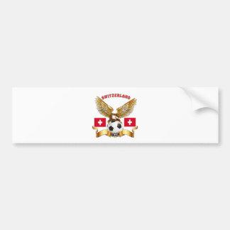 Switzerland Football Designs Bumper Sticker