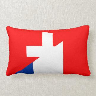 switzerland france flag country half symbol swiss lumbar cushion