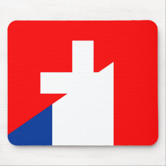 switzerland france flag country half symbol swiss mouse pad